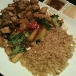Hibachi chicken, veggies, & rice