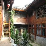 Courtyard leading to rooms