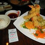 shrimp tempura and tempura vegetables