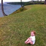 Our baby girl outside of The Sealodge. :)