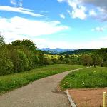 There is a walking trail around the village that offers spectacular views of the countryside.