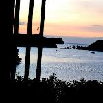 Vue de la baie de Puerto Galera depuis une suite