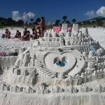 beautiful white sand...