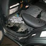 Car window smashed in after parking at Lord Berri