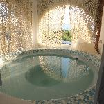 the Outdoor Jaccuzi with the View