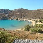 Psili Ammos beach - view from veranda