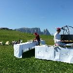 exceptional barbecue at alpe di suisi