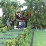 Vista de uma das casas