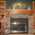 The main fireplace