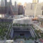 View of the 9/11 Memorial from the hotel's restaurant terrace