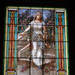 Tiffany leaded and stained glass window - St. Cecelia