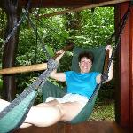 swing chair on deck! You'll want one at home!