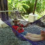 Hammocks abound for relaxation!