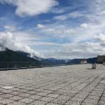 La terrazza-solarium con vista