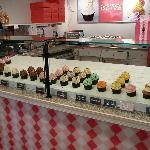 Cupcake counter at SAS cupcakes
