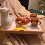 Muffins and Coffee in Bed