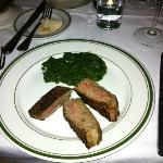Steak mit Cremespinat