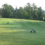 practice green view from room window