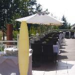 Terrasse auf der die Mahlzeiten eingenommen werden