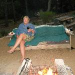 Relaxing by the campfire!