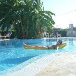 la piscina molto rilassante