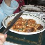 Grandaughters yummy sausage and beans