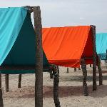 Cabanas on the ocean beach