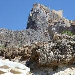 vista sul castello dalla baia