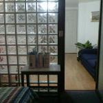 Vista desde la habitacion a la sala/cocina