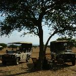 Getting ready for our game drive
