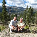 Hiking above the town of Breckenridge, Colorado.