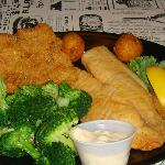 Flounder Platter was on special for $8.99 Amazing came with 2 sides and hushpuppies