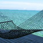 Beautiful double hammock at the end of the dock