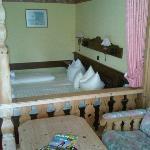Sitzecke und Bett