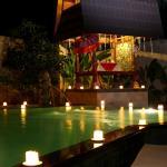 Romantic dinner at pool side gazebo