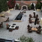 View of the courtyard, where you can eat breakfast or dinner