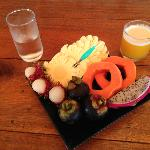 Breakfast fruit platter :-).