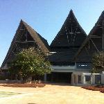 Le toit du bâtiment principal