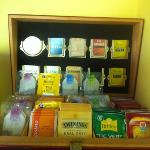 great selection of tea with breakfast