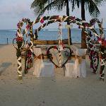 belle deco de plage pour un repas en amoureux