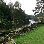 view of River Wye from bedroom widow