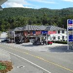 General store with gas pumps