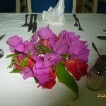 Flowers, on table on are last day