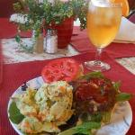 Meatloaf Slider and Potato Salad - all homemade