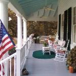 Porch at Bloomsbury Inn just before sunset
