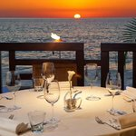 Beachfront Table at Sunset