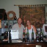 Owner and his daughter at Little Vineyards