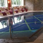 This is the adult only pool in the spa area at the Alpenpark