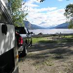 Choice of camping spots as not busy