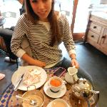 Delicious tea at Patisserie Lila